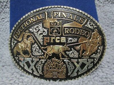 40th Anniversary 1998 Las Vegas NFR NATIONAL FINALS RODEO prca BELT BUCKLE