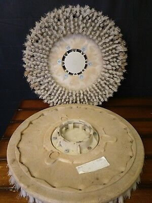 "Lot of 2 Malish 17"" Mal-Lok Style 1 Tufted Pad Driver Floor Machine Brush"