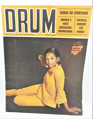 Vintage DRUM Africa's Leading Magazine May 1968 Gowon The Sportsman Free S/H