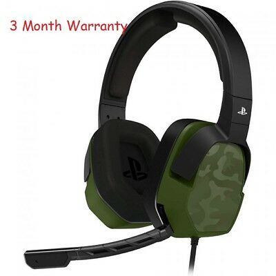 PDP PS4 Afterglow LVL3 Wired Green Camo Headset