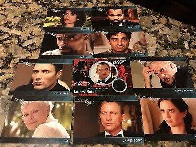 James Bond Casino Royale Promo Card Set CR1-CR9 Plus Numbered Bond Patch Card