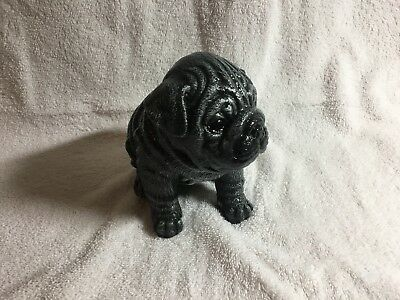 Concrete Shar Pei Dog Statue 6'' Tall