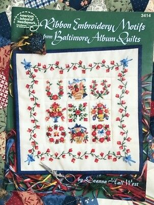 "American School of Needlework ""Ribbon Embroidery Motifs"" Booklet #3414"