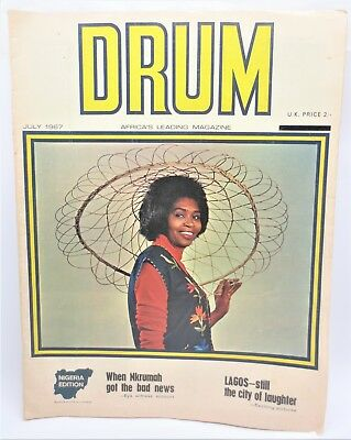 Vintage DRUM Africa's Leading Magazine July 1967 Lagos City Of Laughter Free S/H