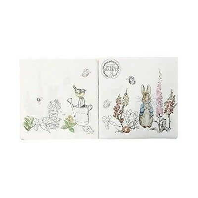 "BEATRIX POTTER PETER RABBIT 3-PLY 20 PAPER NAPKINS SERVIETTES 13""x13""–33X33CM"