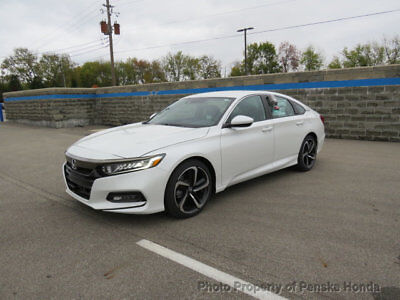 2018 Honda Accord Sedan Sport 2.0T Automatic port 2.0T Automatic New 4 dr Sedan Automatic Gasoline 2.0L 4 Cyl Platinum White