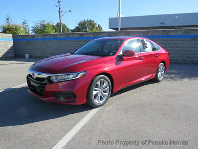 2018 Honda Accord Sedan LX 1.5T CVT LX 1.5T CVT New 4 dr Sedan CVT Gasoline 1.5L 4 Cyl Radiant Red Metallic