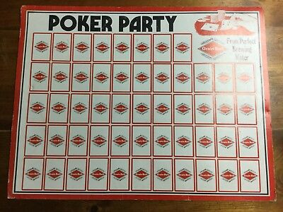 Vintage Grain Belt Beer poker Party Playing  Cards, 52 cards All Black Print