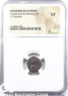 Kingdom of Elymais, 2nd Century AD, AE Drachm, Orodes III NGC VF ** ANCIENTS!