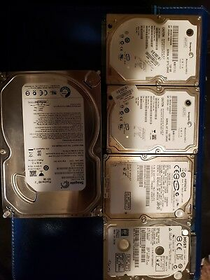 Tested/Working Internal Hard Drive Lot Mixed Lot of 5 120GB to 500GB