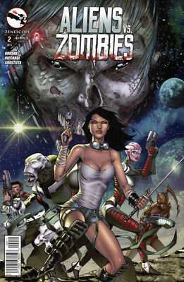 ALIENS VS. ZOMBIES #2 Cover A VF/NM (2015) Zenescope - Free Shipping!