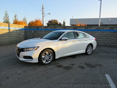 2018 Honda Accord Sedan LX CVT LX CVT 4 dr Sedan CVT Gasoline 1.5L 4 Cyl Platinum White Pearl