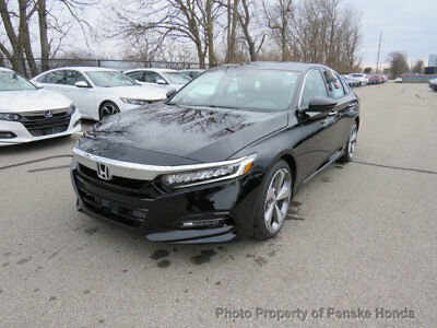 2018 Honda Accord Sedan Touring 2.0T Automatic Touring 2.0T Automatic New 4 dr Sedan Automatic Gasoline 2.0L 4 Cyl Crystal Blac
