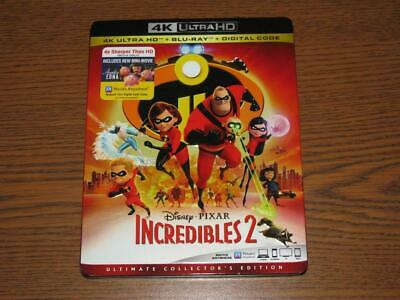 Incredibles 2 (4K Ultra HD Blu-ray/Blu-Ray, 2018, 3-Disc Set) with Slip Cover