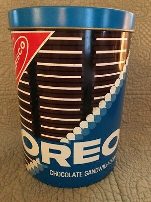 Vintage Oreo Tin Can, Early, Nabisco, W Lid