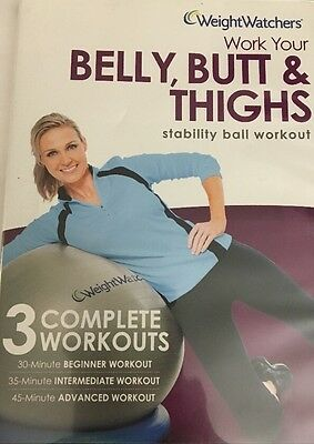 Weight Watchers DVD Belly, Trasero & Muslos Bola de Estabilidad Ejercicio DVD 3
