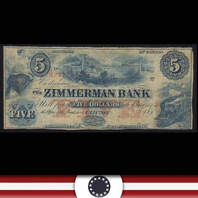 185_ $5 Zimmerman Bank Clifton Providence Of Canada