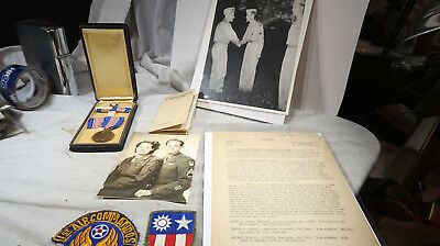 WWII US Army NAMED GROUPING 1st Air Commandos Soldier's Medal CBI