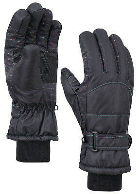 Women's Windproof Waterproof Winter Cold Weather Touchscreen Snow Ski Gloves