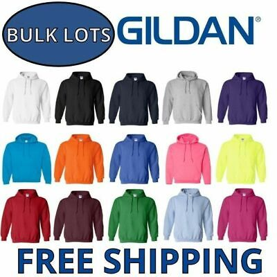 Gildan Hoodie Pullover Bulk Lots S-XL Wholesale Sweathirts Choose Colors 18500