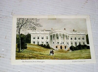 Jimmy Carter and Rosalynn Carter Signed litho The Presidents House, Washington