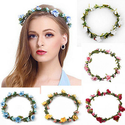 Women Flower Fairy Wedding Bride Party Hair Band Headband Crown Garland Gift HU