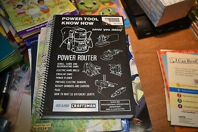 "Sears Craftsman ""Router Power Tool Know How Book"""