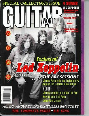 Guitar World Magazine January 1998 Led Zeppelin AC/DC BB King Pixies Rock Tab