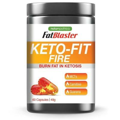 Fat Blaster Naturopathica Keto-Fit Fire Burn Fat in Ketosis 60 Capsules