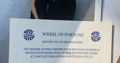 Four production passes to Wheel of Fortune in Culver City, CA!