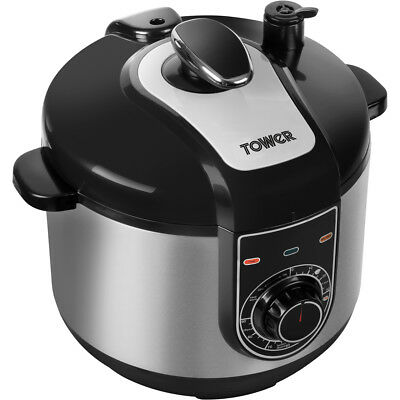 Tower T16004 Slow Cooker Free Standing Stainless Steel