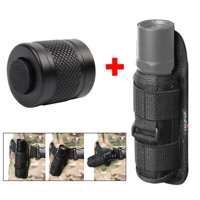 Belt Clip Rotatable Flashlight Holster & Tailcap Clicky Switch for Surefire 6P