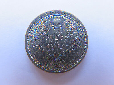 1944 INDIA SILVER 1/4 RUPEE in EXCELLENT CONDITION KING GEORGE VI