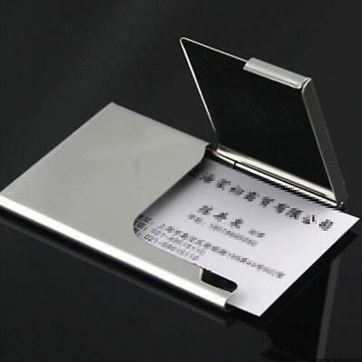 Business Name Credit ID Card Holder Box Metal Stainless Steel Pocket Man Gift