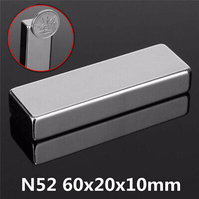60x20x10mm N52 Block Magnet  Super Strong Cuboid Magnet Rare Earth Neodymium