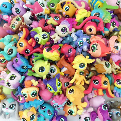 Random Lot5pcs Littlest Pet Shop Hasbro LPS mini Animals Figure Kids Toys Gift