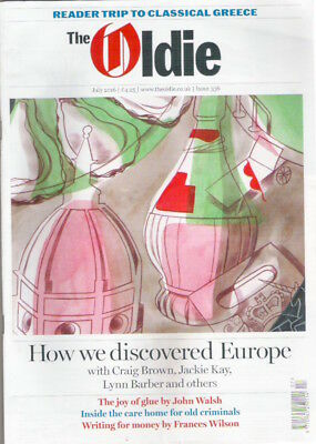 THE OLDIE Magazine July 2016 Discovery of Europe Guardian Rusbridger Collectable
