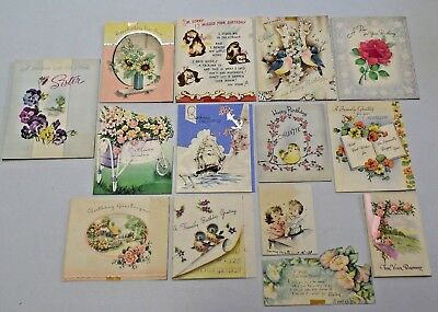Large Lot of Vintage Greeting Cards 1930s, 40's, 50's Norcross, Am Greeting, etc