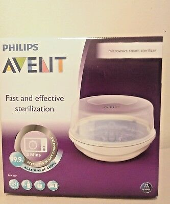 Philips AVENT Microwave Steam Baby Bottle Sterilizer New Clean Babies Bottles