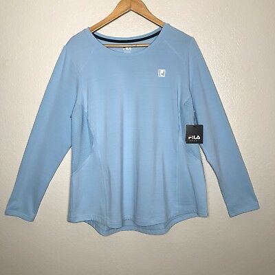 28ce7ade6654 Fila Sport Women s Long Sleeve Top with Soft Lining Light Blue Size 1X