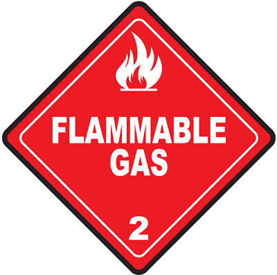 45-200mm Hazard Warning Stickers Flammable Gas Sign Safety COSHH HACCP Hazchem