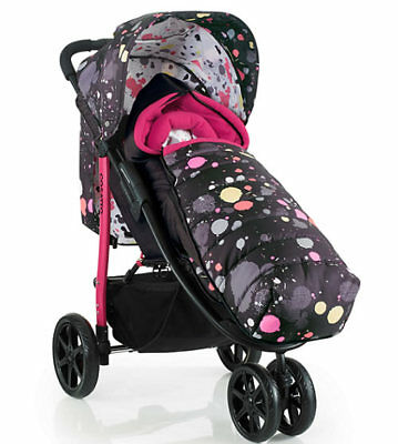 Brand new Cosatto Busy pushchair Seattle with footmuff & raincover from birth