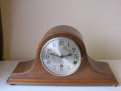 Vintage DRGM  Napoleon Hat German Mantle Clock Westminster Chimes DRP 46cms