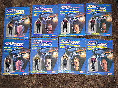 8 Star Trek Next Generation Galoob 8 Action Figuren Sammlung