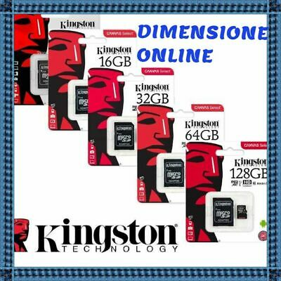 KINGSTON MICRO SD 16 GB 32 GB 64 GB classe 10 MB/S 80 Canvas SCHEDA MEMORIA SDCS