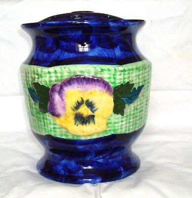 Ringtons / Maling Viola and Pansy Flower Vase  Complete with lid  1933