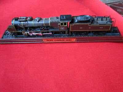 Pacific Chapelon Nord Model Train on Wooden Base