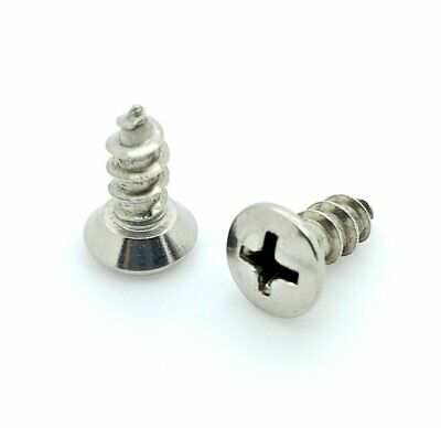 """200 Qty #10 x 1/2"""" Oval Head 304 Stainless Phillips Head Wood Screws (BCP703)"""