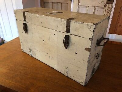 Vintage Wooden Storage Box Toolbox Chest Trunk
