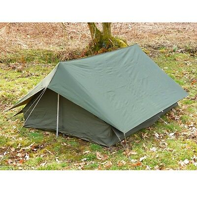 French Army Tent F1 Canvas Ridge Tent with Nylon Flysheet Complete Original